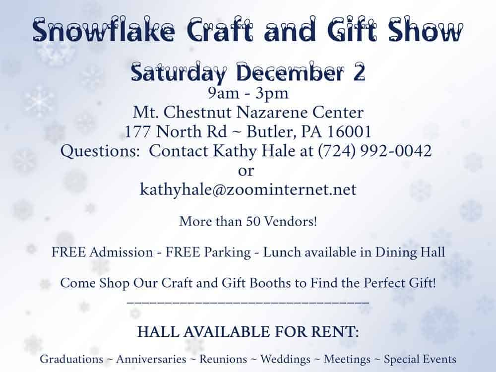 Snowflake Craft Show 2017